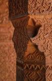 Pared grabada en el complejo de Fatehpur Sikri, la India Fotografía de archivo