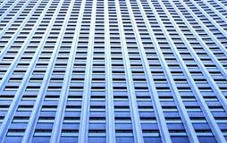 Pared grande, azul de ventanas Fotos de archivo libres de regalías