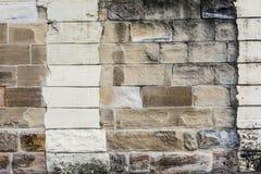 Pared grande de la piedra arenisca del bloque Fotografía de archivo libre de regalías