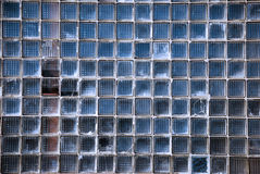 Pared hecha de bloques de cristal cuadrados Fotografía de archivo libre de regalías