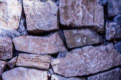 Pared hecha de la piedra, papel pintado de piedra, textura Fotos de archivo libres de regalías