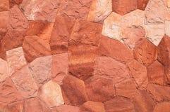 Pared hecha de piedras Color rojo Foto de archivo libre de regalías