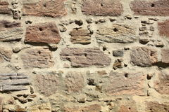 Pared hecha de piedras naturales Imagen de archivo libre de regalías