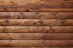 Pared hecha de tablones de madera Foto de archivo libre de regalías