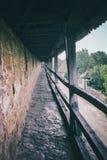 Pared histórica alrededor del der Tauber del ob de Rothenburg en Germani Imagen de archivo