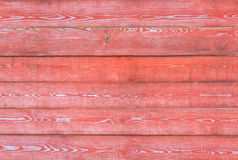 Pared horizontal de madera roja Foto de archivo