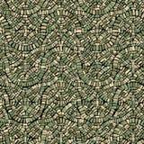 Pared inconsútil del modelo del mosaico verde de la armadura Imagen de archivo libre de regalías
