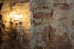 Pared interior del castillo Imagen de archivo libre de regalías