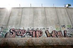 Pared israelí de la separación Foto de archivo libre de regalías