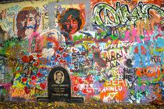 Pared John Lennon en Praga Fotografía de archivo