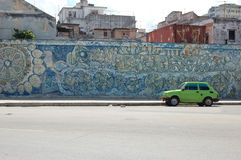 Pared La Habana del coche Foto de archivo libre de regalías
