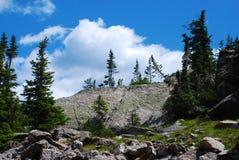 Pared lisa de la roca en un Ridge fotos de archivo libres de regalías