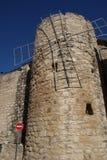 Pared Magalas del castillo Fotografía de archivo
