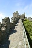 Pared medieval de la ciudad de Conwy imagen de archivo
