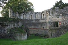 Pared medieval de York, York, Inglaterra Foto de archivo