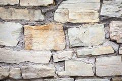 Pared medieval hecha de piedras Foto de archivo libre de regalías