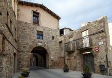 Pared medieval porta de les Verges de Santpedor imagen de archivo libre de regalías