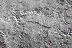 Pared mediterránea blanca del plaste rústico del cemento Fotografía de archivo