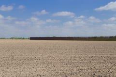 Pared meridional de la frontera en Brownsville, Tejas fotos de archivo