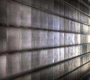 Pared metálica Foto de archivo libre de regalías