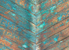 Pared multicolora de madera vieja Fotografía de archivo libre de regalías