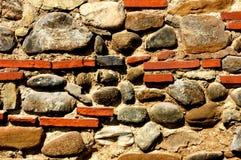 Pared muy vieja de la roca Imagen de archivo