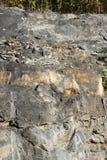 Pared natural de la roca Imagen de archivo libre de regalías