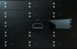 Pared negra de la caja de depósito seguro Foto de archivo libre de regalías