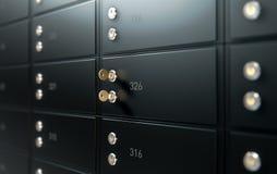 Pared negra de la caja de depósito seguro Fotos de archivo