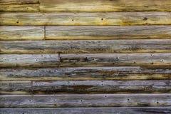 Pared negra vieja de los registros cubiertos con el musgo foto de archivo