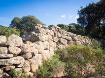 Pared Nuragic de piedra Fotos de archivo libres de regalías