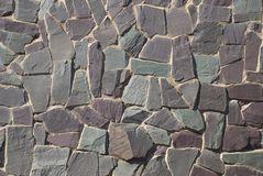 Pared o camino de la roca Foto de archivo libre de regalías