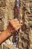 Pared occidental de Jerusalén Imagen de archivo