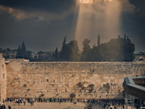 Pared occidental de la Explanada de las Mezquitas, Jerusalén Imagenes de archivo