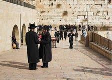 Pared occidental en Jerusalén Foto de archivo