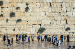 Pared occidental en Jerusalén Fotos de archivo libres de regalías