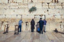 Pared occidental en Jerusalén Fotos de archivo