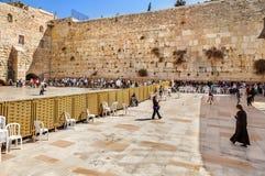 Pared occidental, Jerusalén, Israel Imagen de archivo libre de regalías