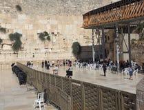 Pared occidental, Jerusalén, la sección de las mujeres foto de archivo