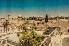 Pared occidental, la Explanada de las Mezquitas, Jerusalén Imagenes de archivo