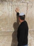 Pared occidental (pared que se lamenta) Jerusalén Imagenes de archivo