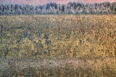 Pared oxidada del metal imagen de archivo libre de regalías