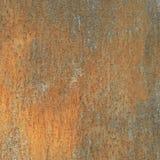 Pared oxidada, vieja textura del metal, corrosión de cobre Fotos de archivo libres de regalías