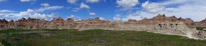 Pared, parque nacional de los Badlands, SD Fotos de archivo