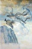 Pared Phoenix del templo Foto de archivo