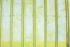Pared pintada áspera verde del metal foto de archivo