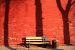Pared prohibida del rojo de la ciudad Foto de archivo