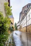 Pared prusiana tradicional en arquitectura en Alemania Imagen de archivo