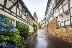 Pared prusiana tradicional en arquitectura en Alemania Foto de archivo