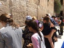 Pared que se lamenta de Jerusalén Israel Foto de archivo libre de regalías